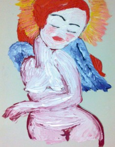 'Angel', oil on canvas, 2011