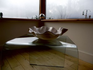 White 'Flower' bowl, March 2012