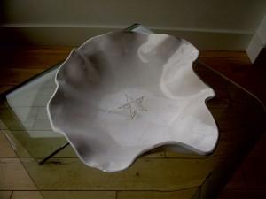 Interior of white 'Flower' bowl, 2012.